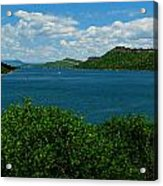 Blue Waters Of Horsetooth Reservoir Acrylic Print by Aaron Burrows