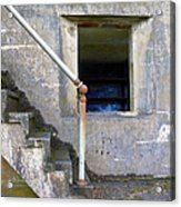 Blue Window Bunker Acrylic Print