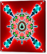 Blue X On Red Acrylic Print