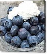 Blueberries And Cottage Cheese Acrylic Print