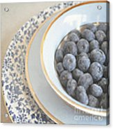 Blueberries In Blue And White China Bowl Acrylic Print