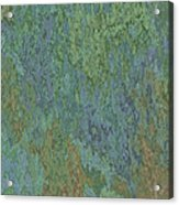 Bluegreen Stone Abstract Acrylic Print