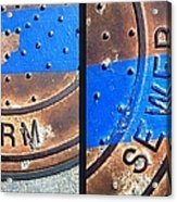 Bluer Sewer Diptych Acrylic Print