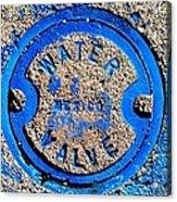 Bluer Sewer Triptych Acrylic Print