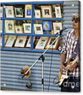 Blues Guitarist Acrylic Print