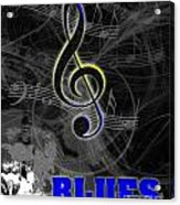 Blues Music Poster Acrylic Print