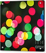 Blurred Christmas Lights Acrylic Print