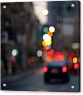 Blurred Traffic Jam Acrylic Print