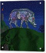 Boar King Acrylic Print by Diana Morningstar