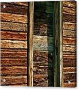 Boarded Doorway Acrylic Print