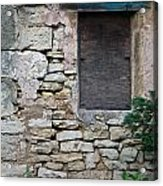 Boarded Window England Acrylic Print