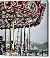 Boardwalk Carousel Acrylic Print