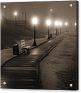 Boardwalk In The Fog Acrylic Print
