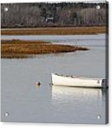 Boat Anchored At Pine Point Scarborough Maine Acrylic Print