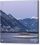 Boat And Alps Acrylic Print