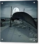 Boat And Moon Acrylic Print