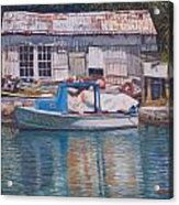 Boat And Shed St. David's Acrylic Print