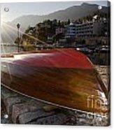 Boat And Sunlight Acrylic Print