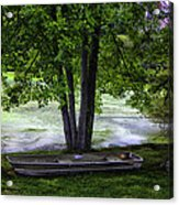 Boat By The Pond 2 Acrylic Print