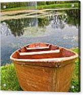 Boat By The Pond Acrylic Print