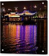 Boat Cruise On Guilin River Acrylic Print