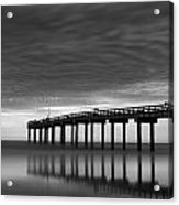 Boat In Clouds Acrylic Print by David Mcchesney