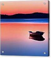 Boat In Sunset II Acrylic Print