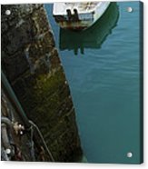 Boat In The Harbor Acrylic Print