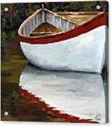 Boat Into The River Acrylic Print by Jose Romero