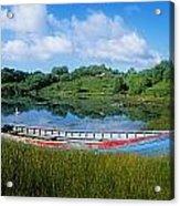 Boat Moored At A Harbor, Ellens Rock Acrylic Print