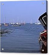 Boat Moored In The Sea, Strangford Acrylic Print