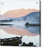 Boat On A Tranquil Lake Killarney Acrylic Print