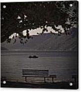 boat on the Lago Maggiore Acrylic Print