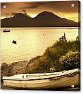 Boat On The Shore At Sunset, Island Of Acrylic Print