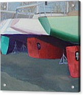 Boat Yard Island Heights Acrylic Print