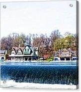 Boathouse Row From Fairmount Dam Acrylic Print