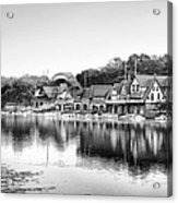 Boathouse Row In Black And White Acrylic Print