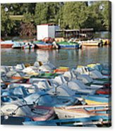 Boating Lake Acrylic Print