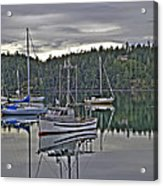 Boating Reflections Acrylic Print