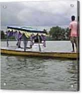 Boatman Taking A Couple Out On A Shikhara Acrylic Print