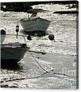 boats at low tide in Cape Cod Acrylic Print