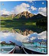 Boats At Pyramid Lake Acrylic Print