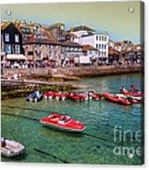 Boats At St Ives  Acrylic Print