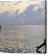 Boats Coming To A Rest For The Day At Sunset In The Lakshadweep Islands Acrylic Print