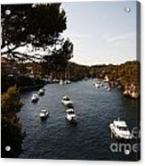 Boats In Cala Figuera Acrylic Print