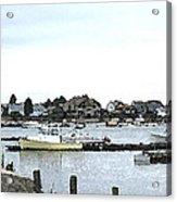 Boats In Harbor Water Acrylic Print