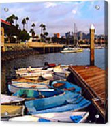 Boats In The Bay Acrylic Print
