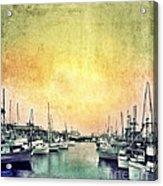 Boats In The Harbor Acrylic Print