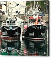 Boats Acrylic Print by Jenny Senra Pampin