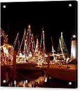 Boats Lighted Acrylic Print